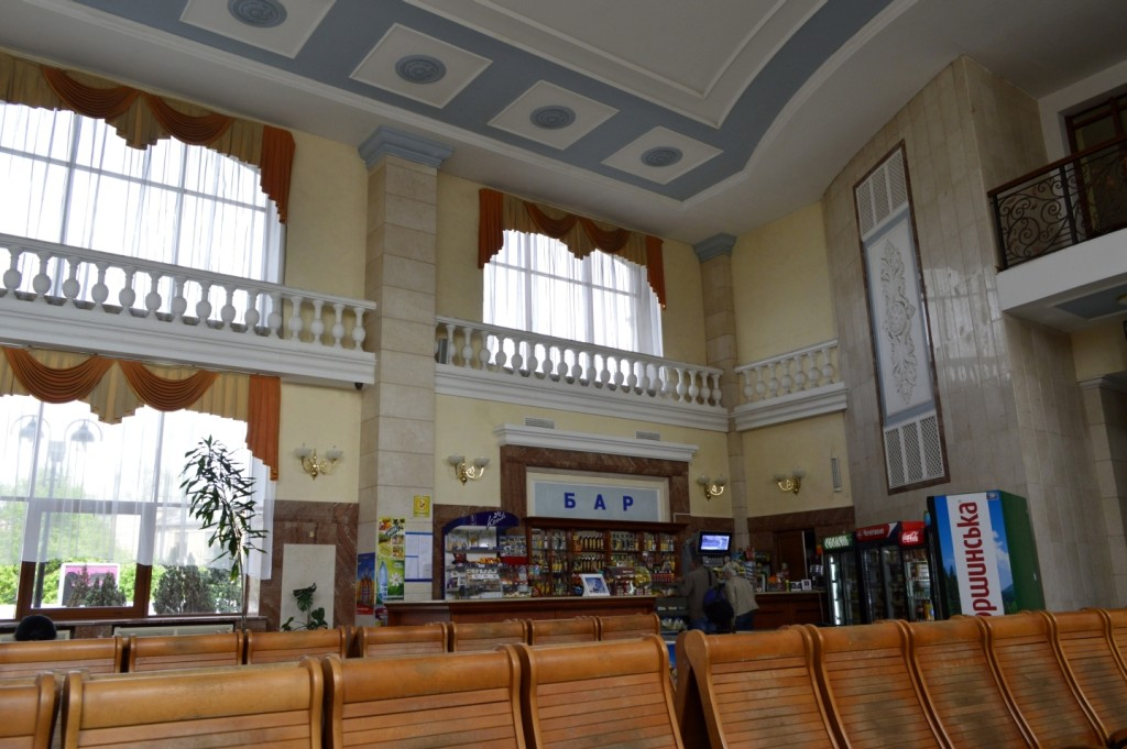 bufet na železničním nádraží v Užhorodu